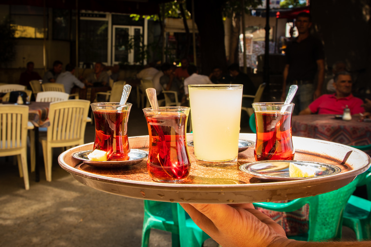 Tea served the traditional way in the Old Bazaar