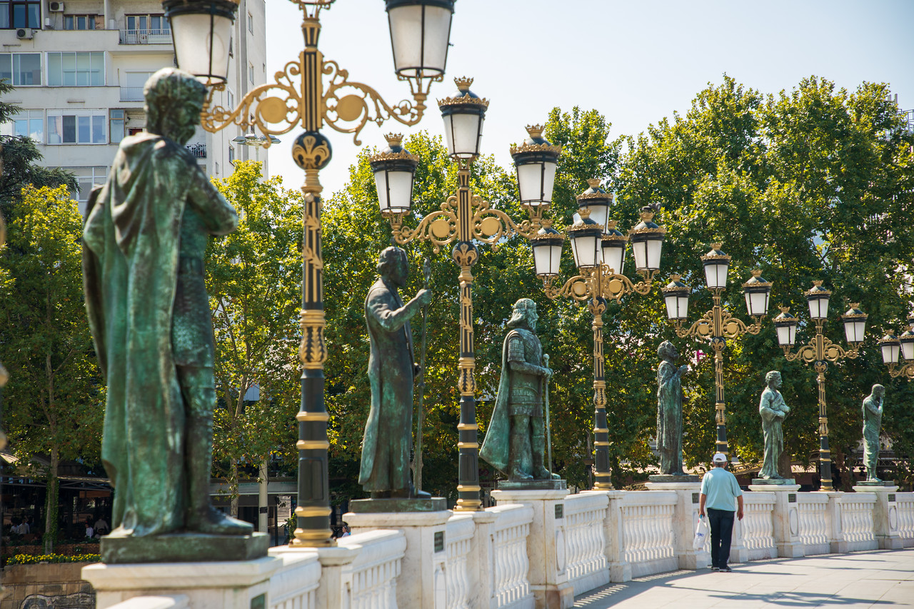 You can never have enough statues in Skopje. Things to do in Skopje.