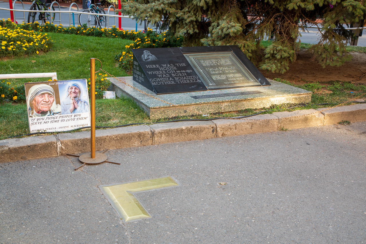 Plaque where Mother Teresa's house once stood Things to do in Skopje