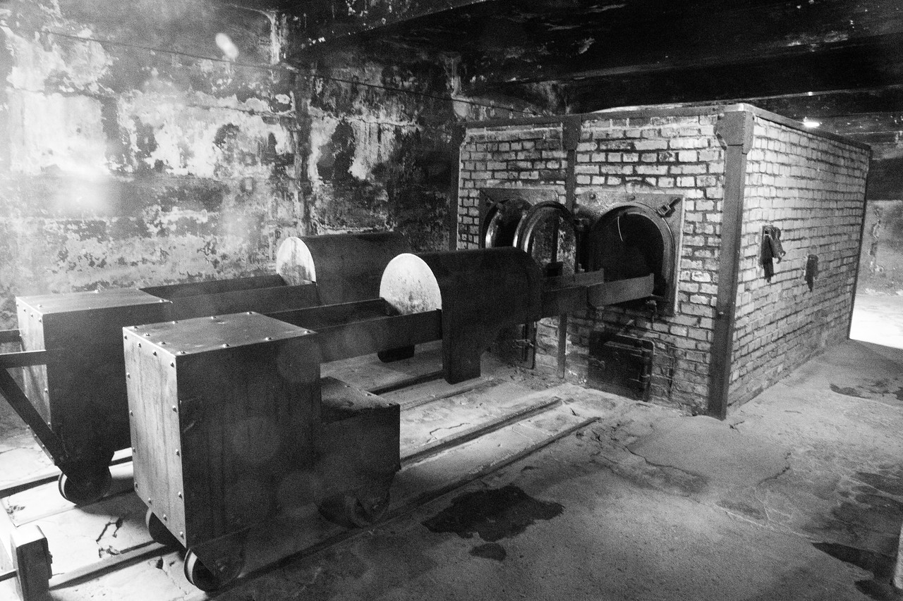 When visiting Auschwitz, you will see These two furnaces were able to burn up to 350 corpses daily