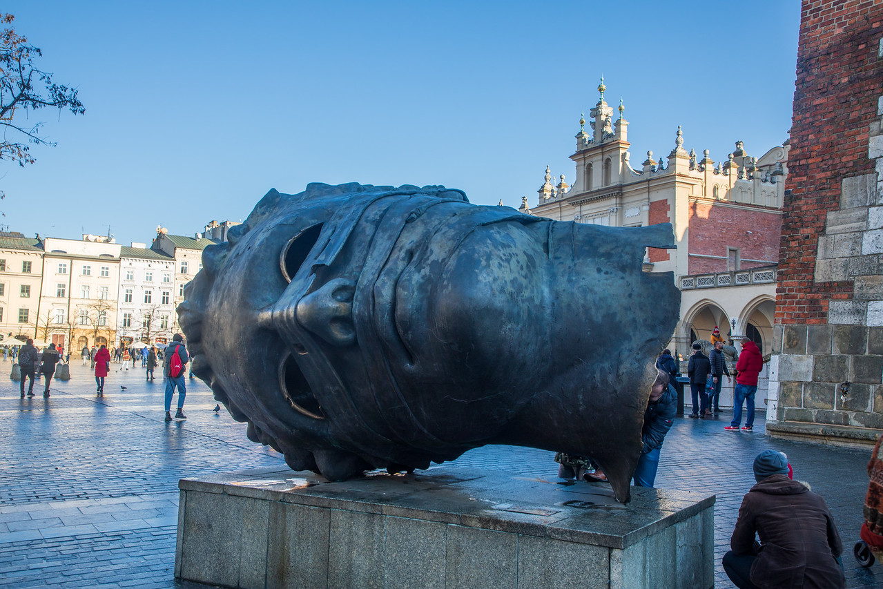 The Giant Bronze Head of Krakow