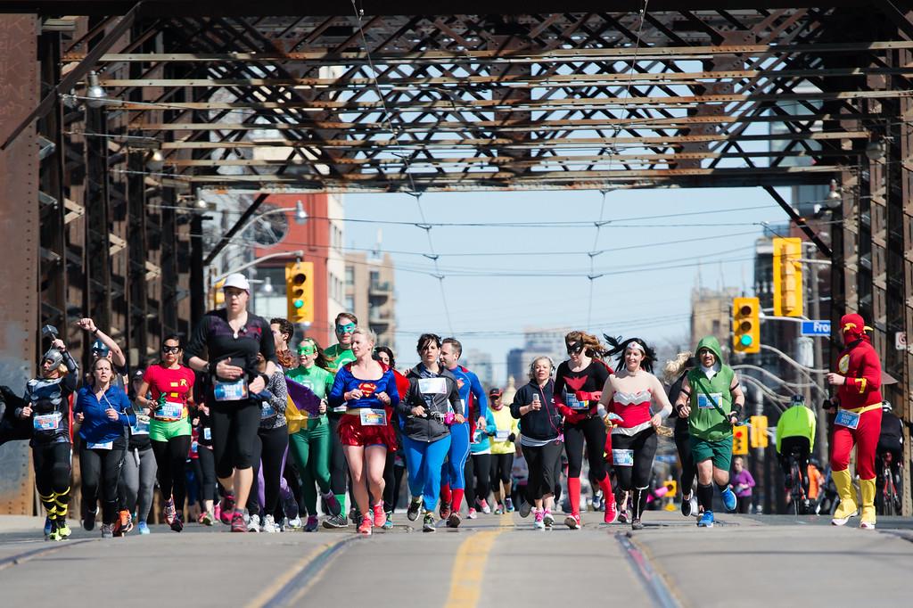 Super Heros Running for SickKids