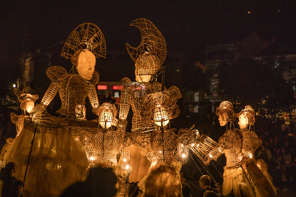 Giant Puppets of the Lumen Project in Alcobaça, Portugal