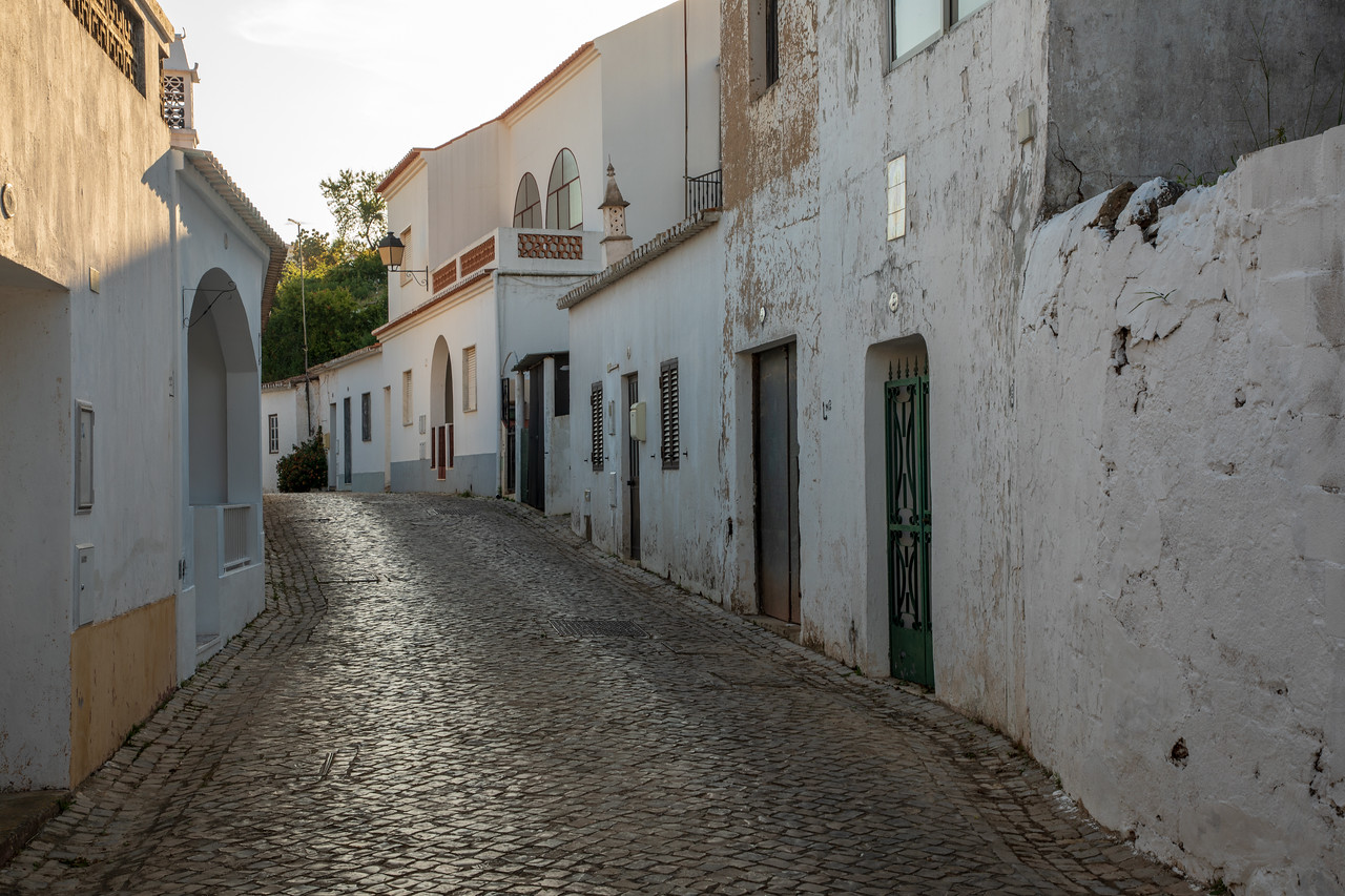 Whitewashed Streets of Alte, Portugal