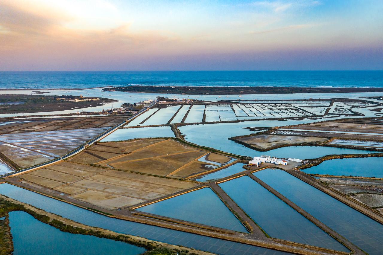 Salt Flats Near Ilha de Tavira