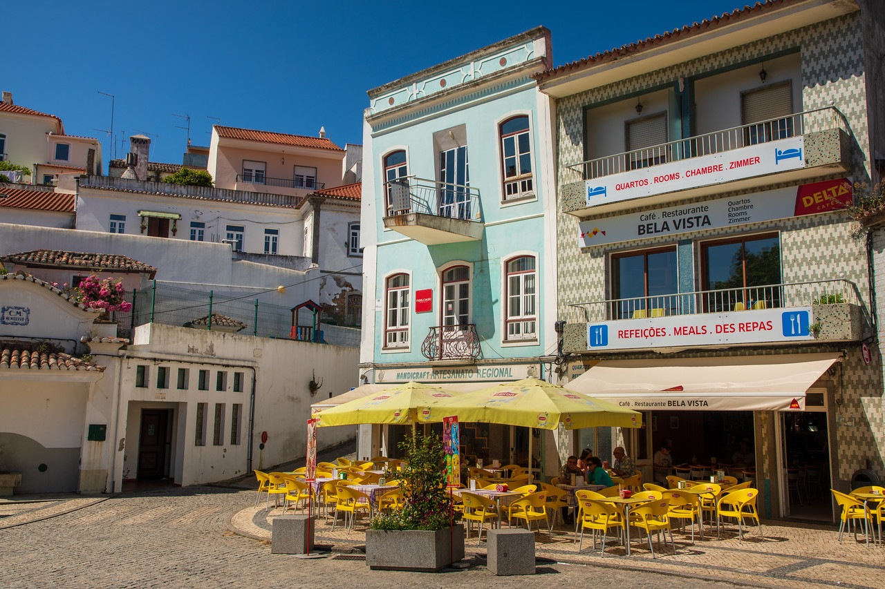 Cafe in the Main Square of Monchique, Algarve, Portugal