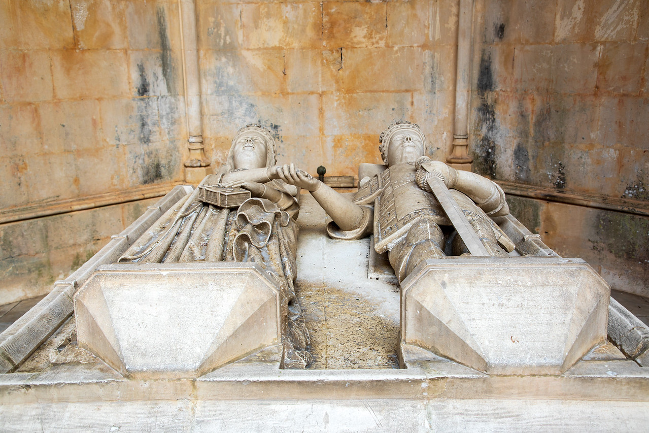 Tomb of King Duarte in the Unfinished Chapels in Batalha Monastery