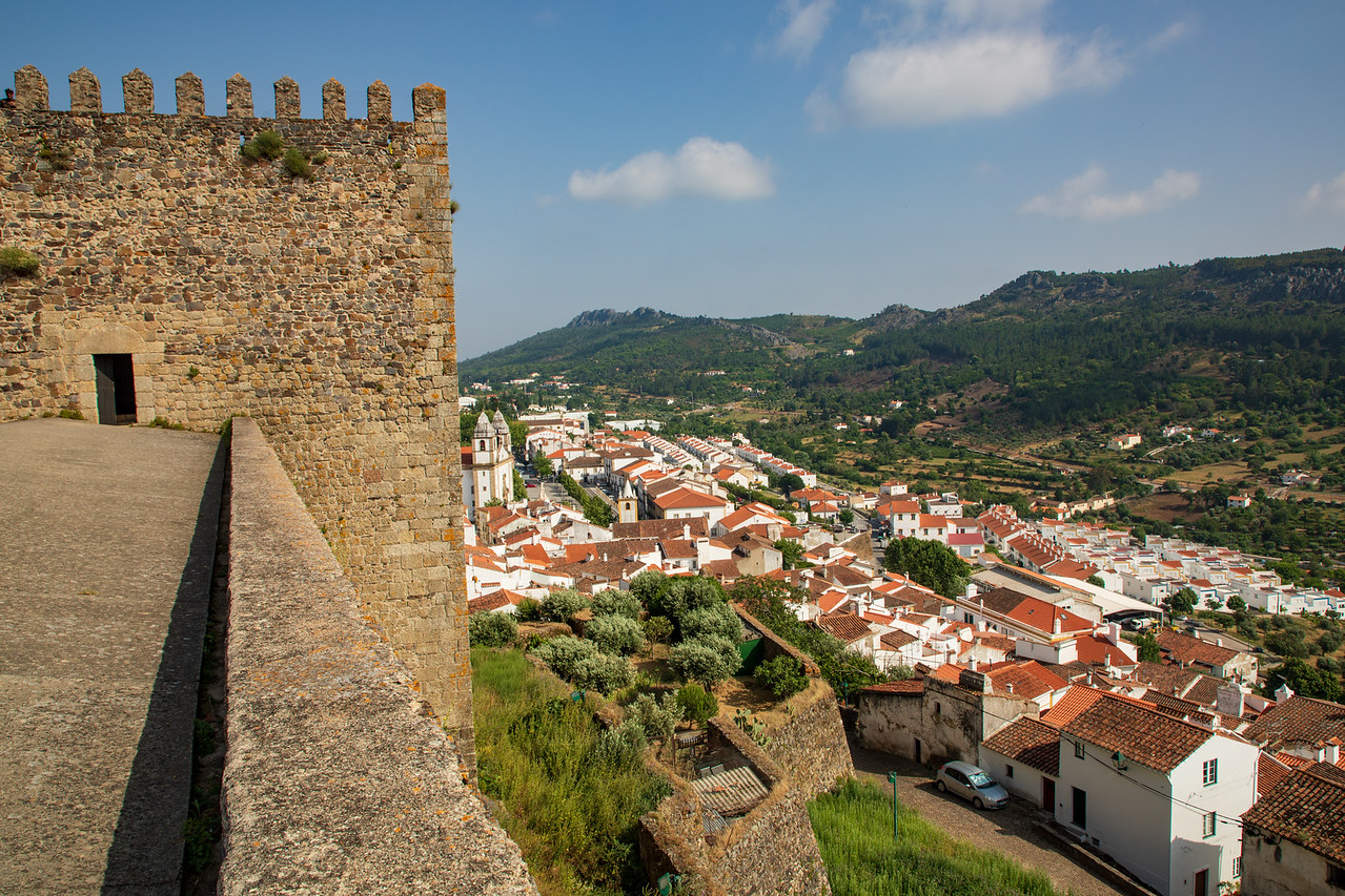 Image of View From the Medieval Castle in Castelo de Vide, Portugal