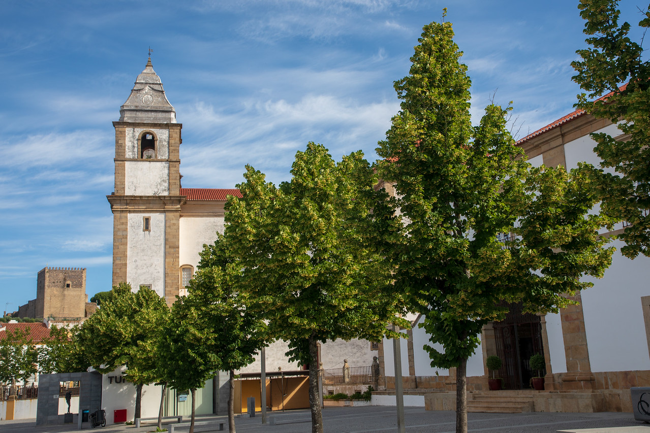 Image of the Main Square and Cathedral in Castelo de Vide, Portugal