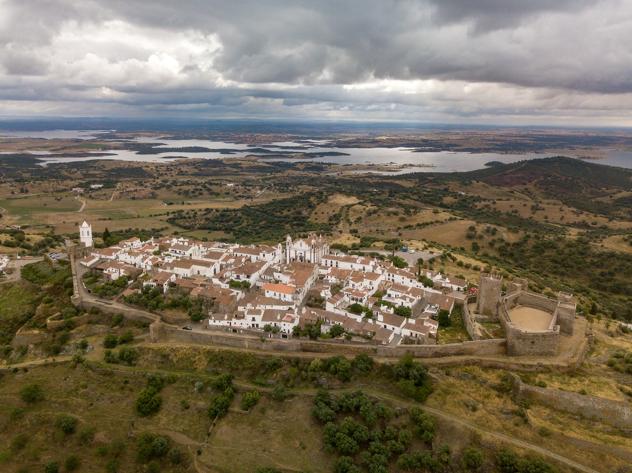 Drone Image of Montsaraz, Portugal