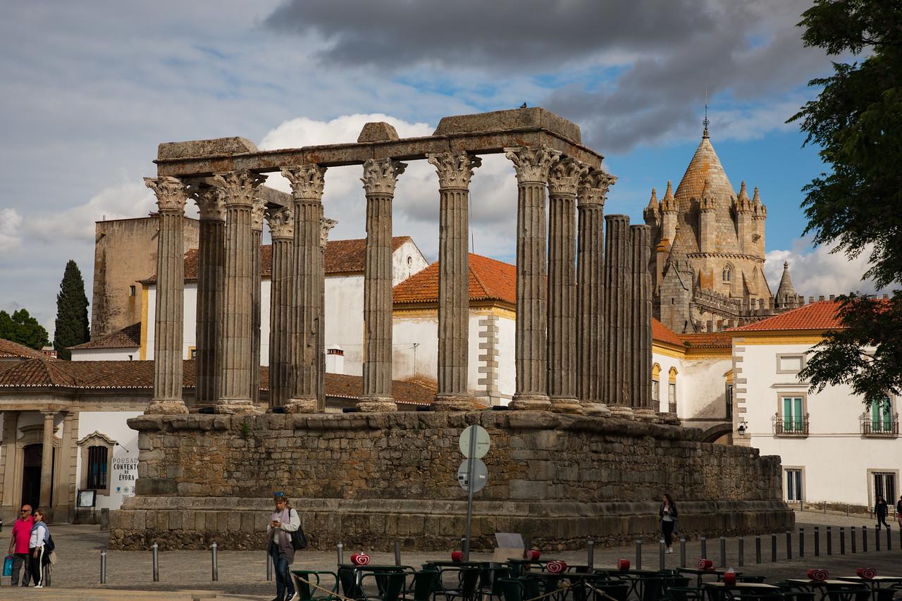 Roman Temple in Evora, Portugal