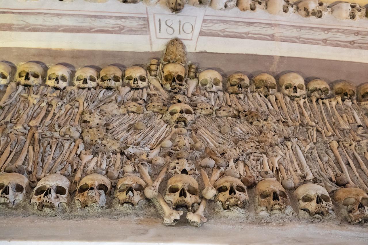 Detail Inside the Chapel of Bones