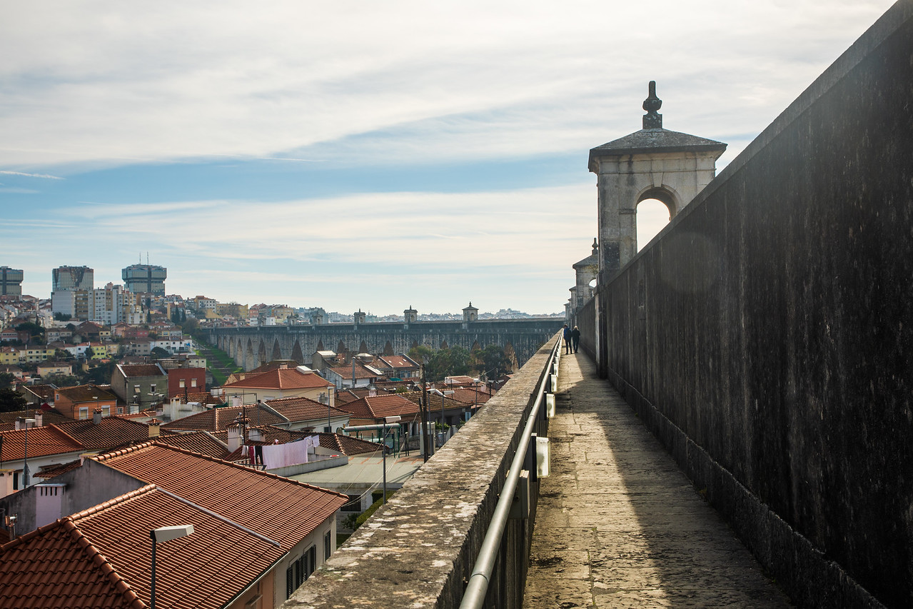 Pathway On Top Of The Lisbon Aqueduct