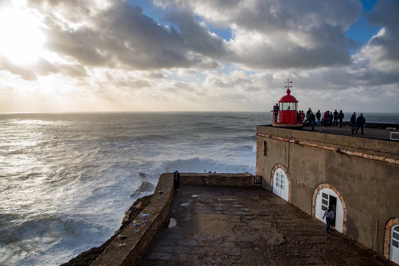 Lighthouse at Nazare, Portugal