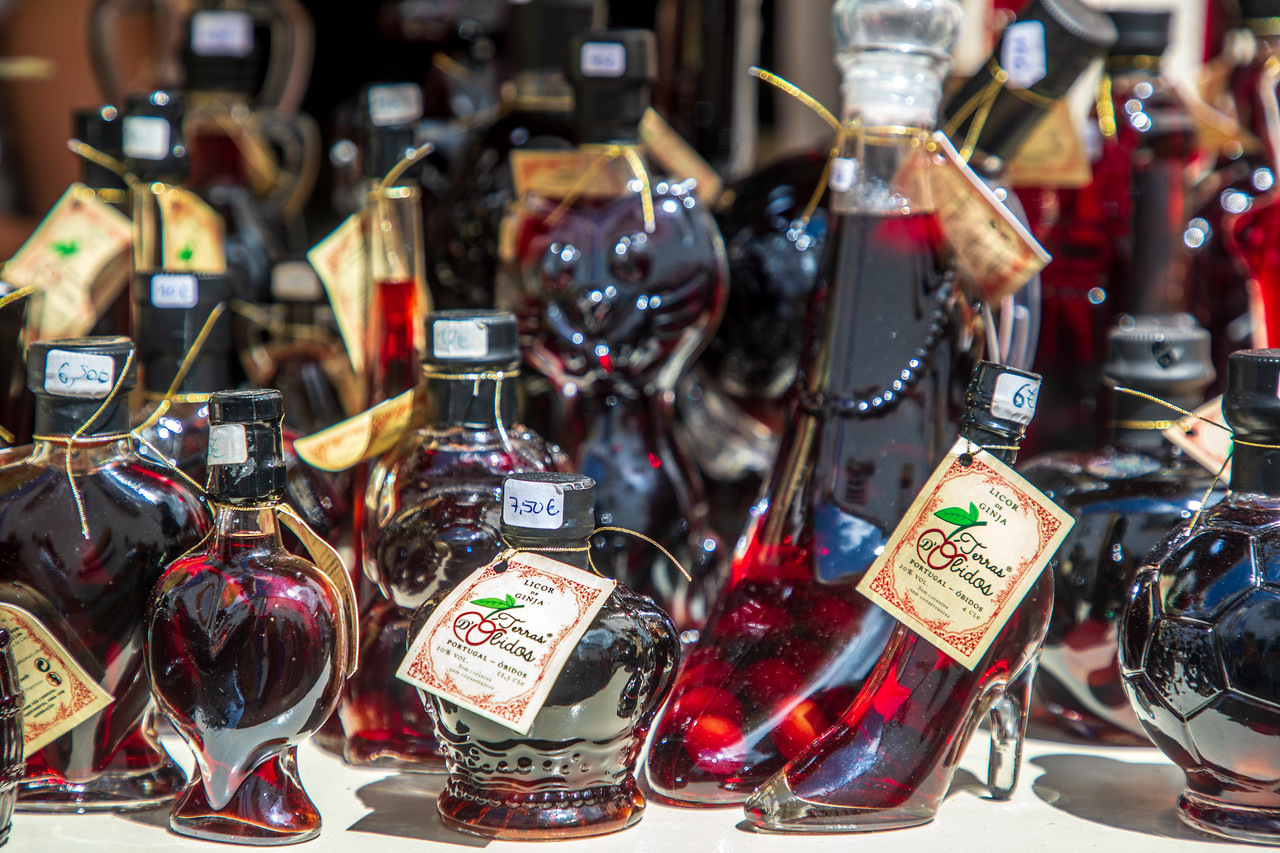 Image of Bottles of Ginja de Obidos Cherry Liquor