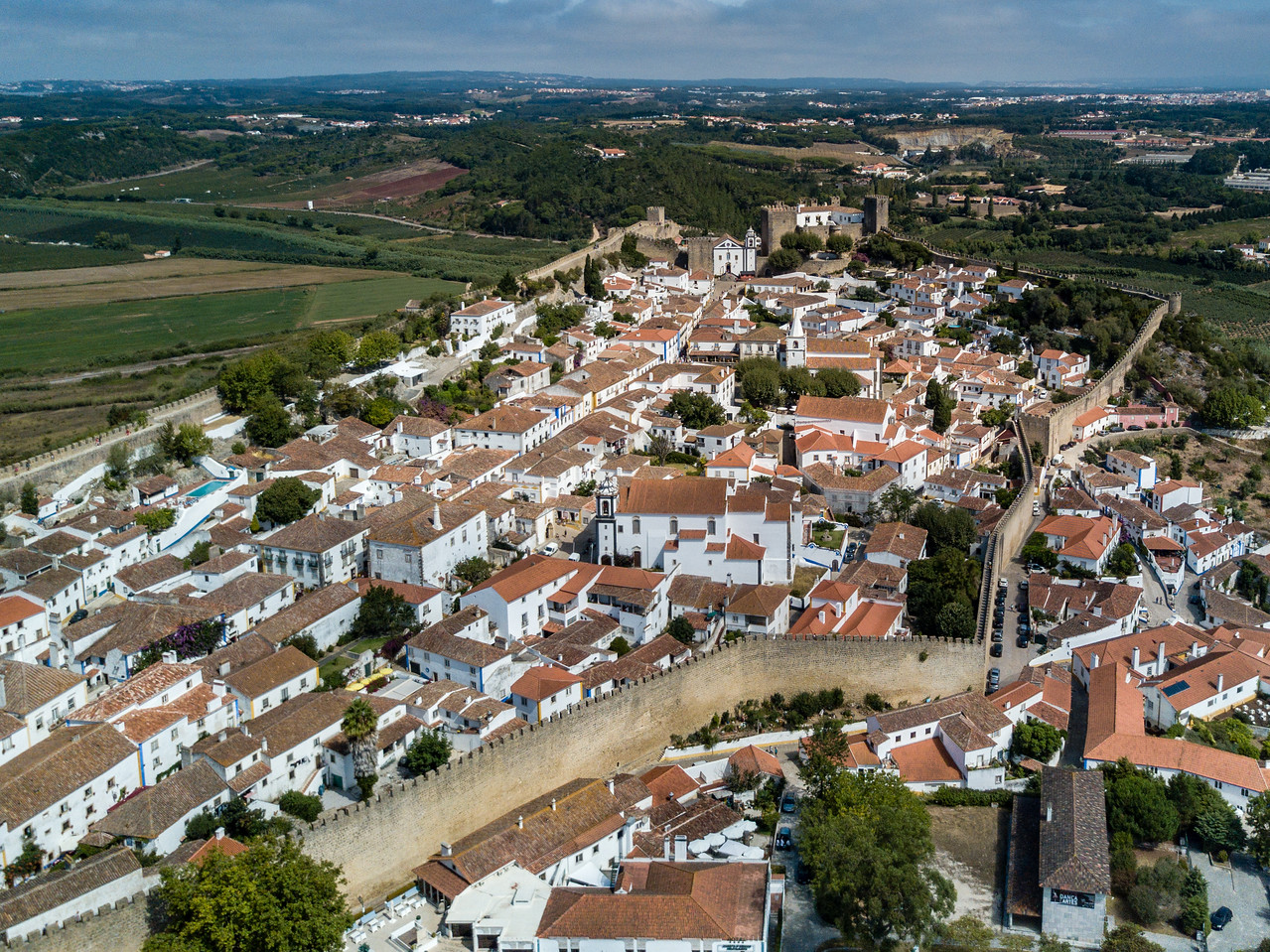 Picture of Drone View of Obidos, Portugal