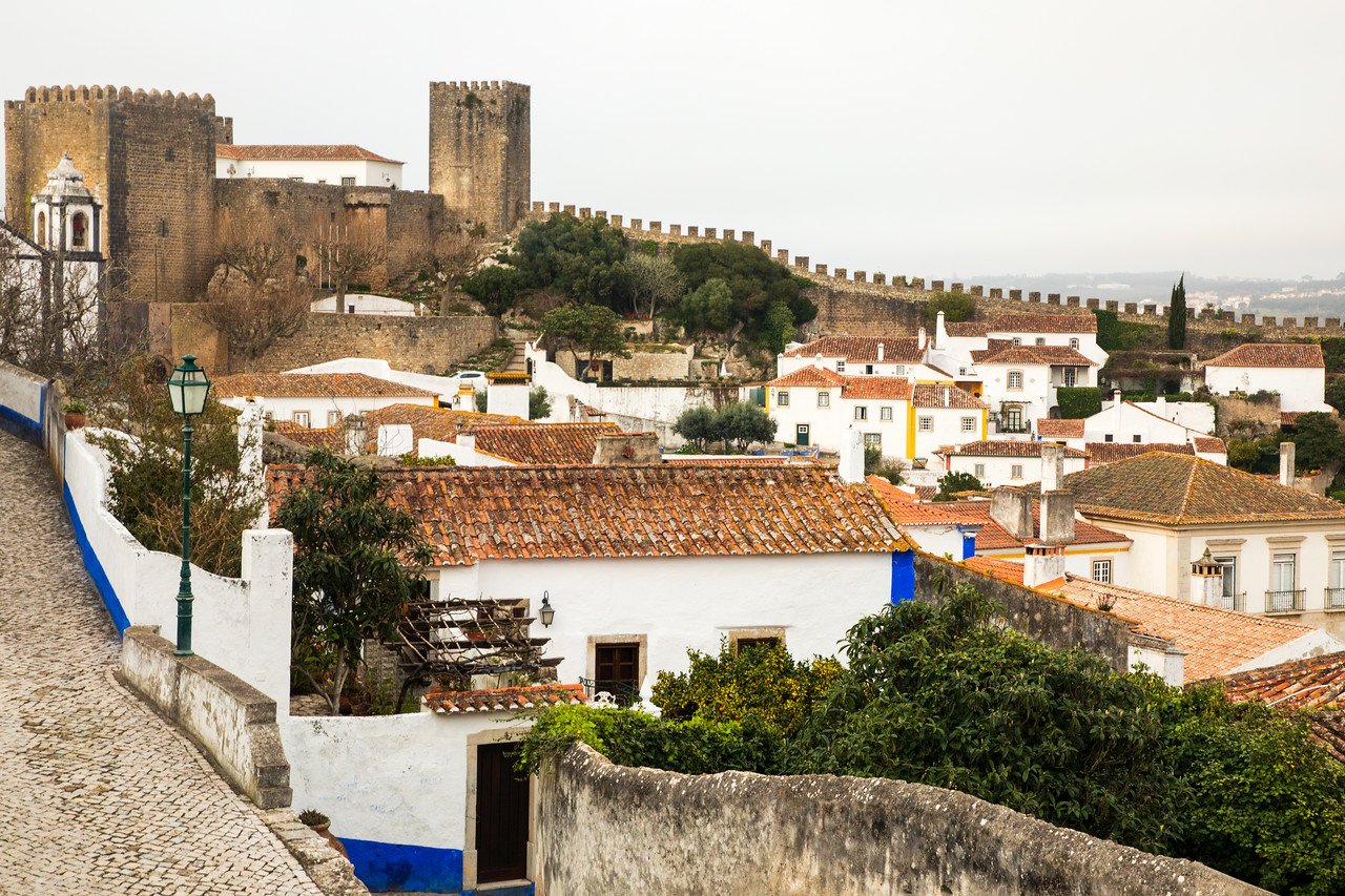 Walking Medieval Castle Walls Are Among Things to do in Obidos, Portugal