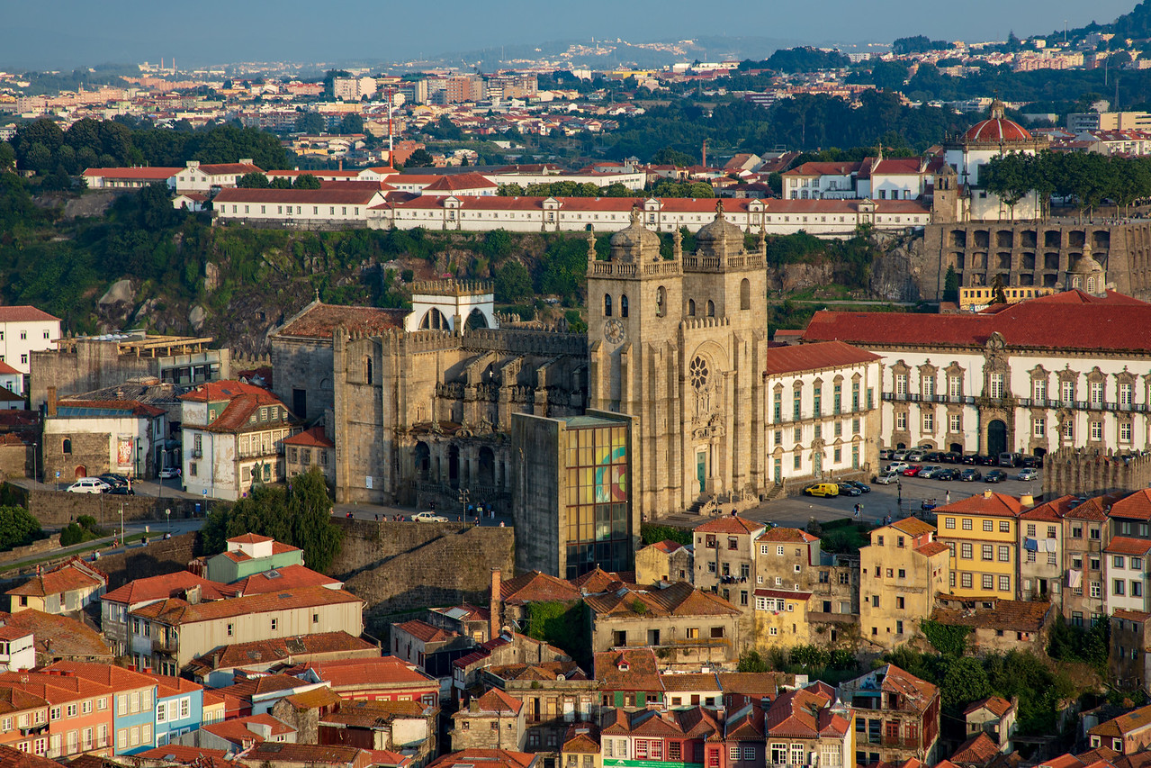 View of Porto Cathedral from Clérigos Tower