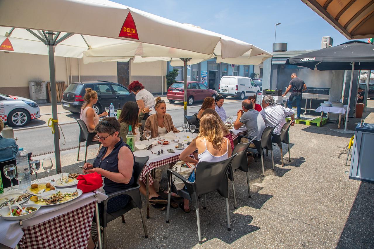 Great Food But No Views at Portos Famous Seafood Restaurants in Matosinhos