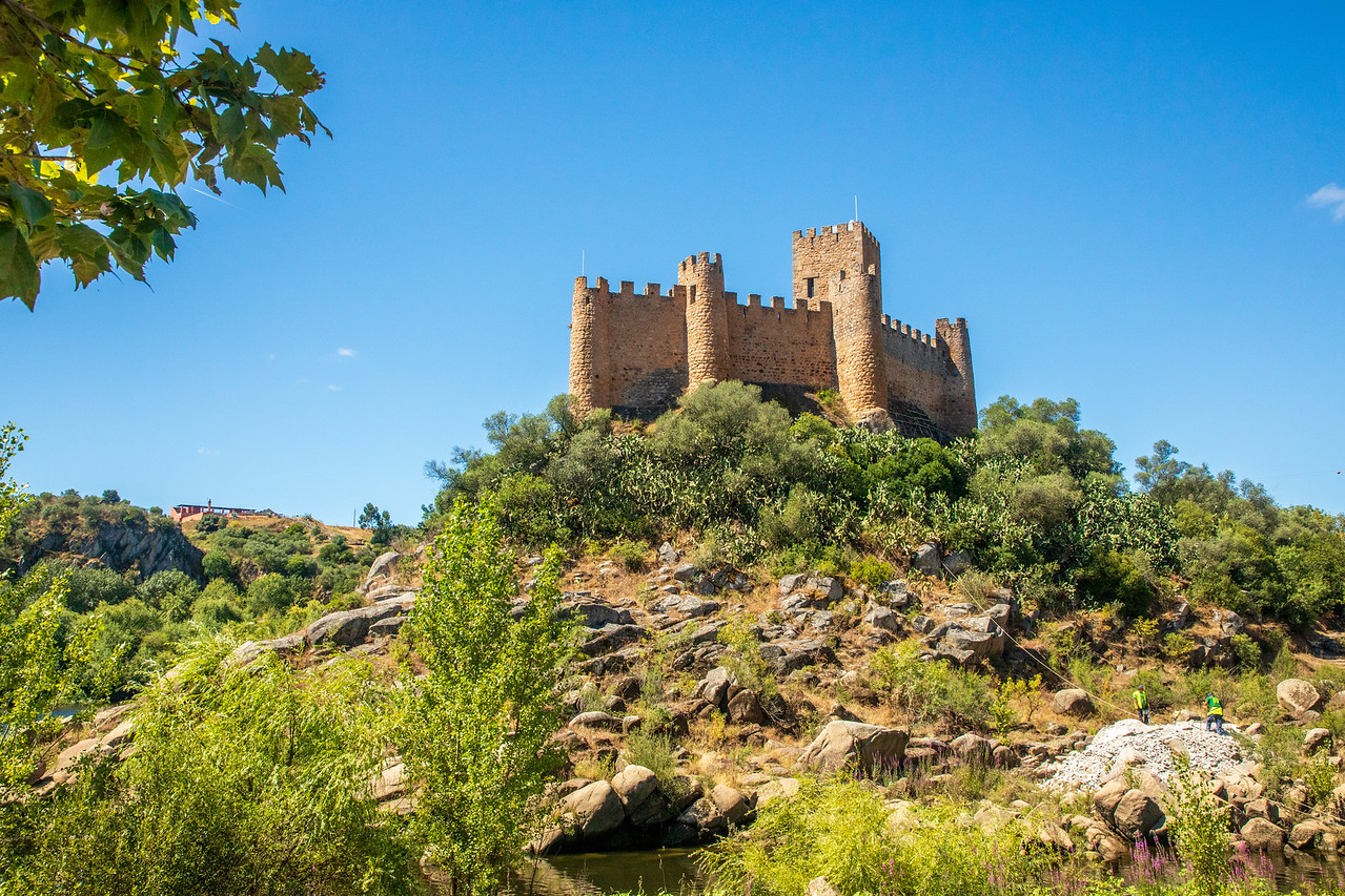 Castle of Almourol Near Tomar, Portugal