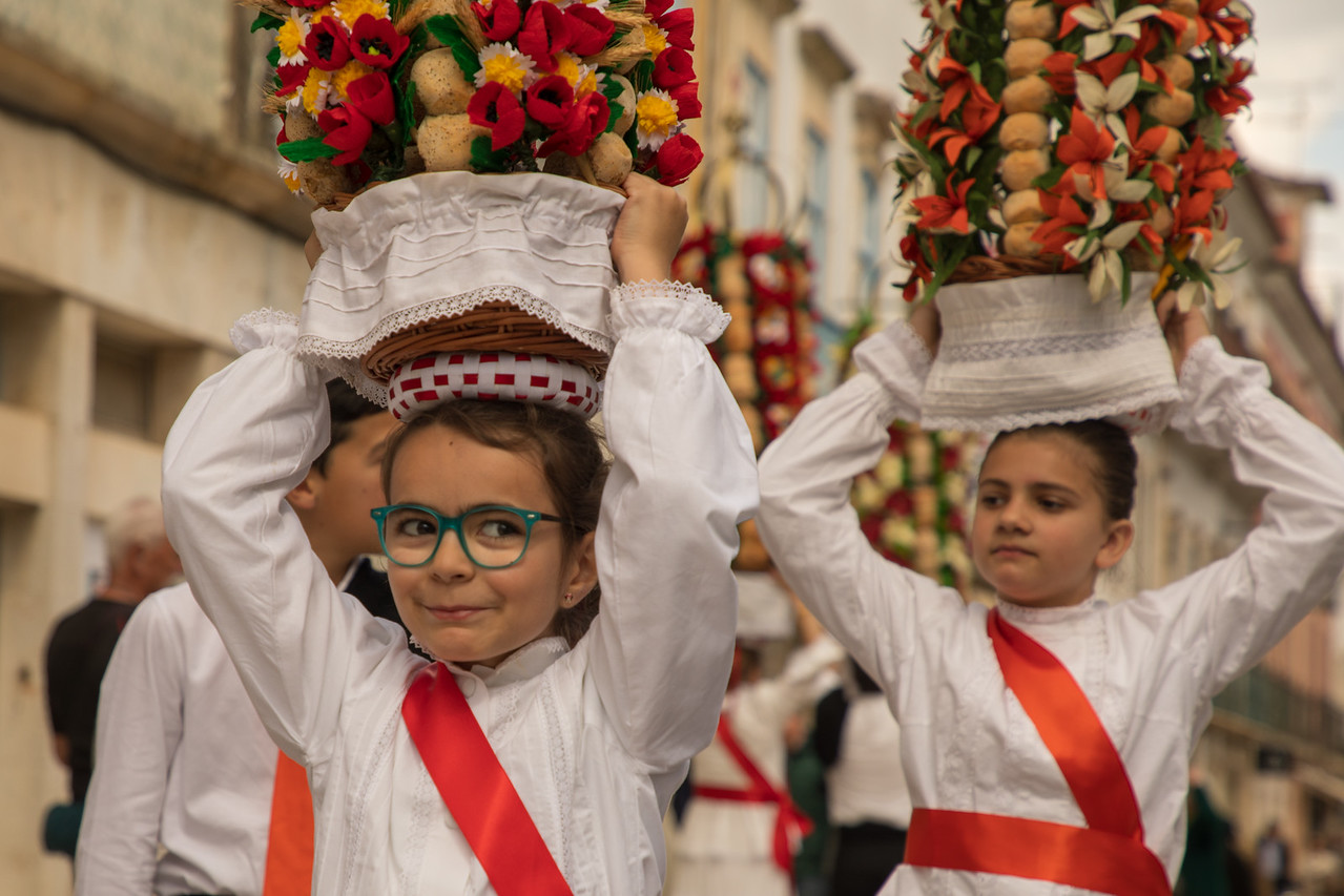 Practicing for Festa dos Tabuleiros (Festival of Trays) in Tomar