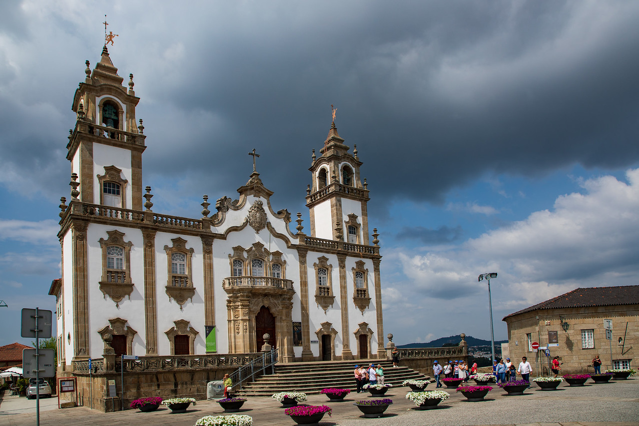 Church of the Misericordia of Viseu Portugal and Cathedral Square