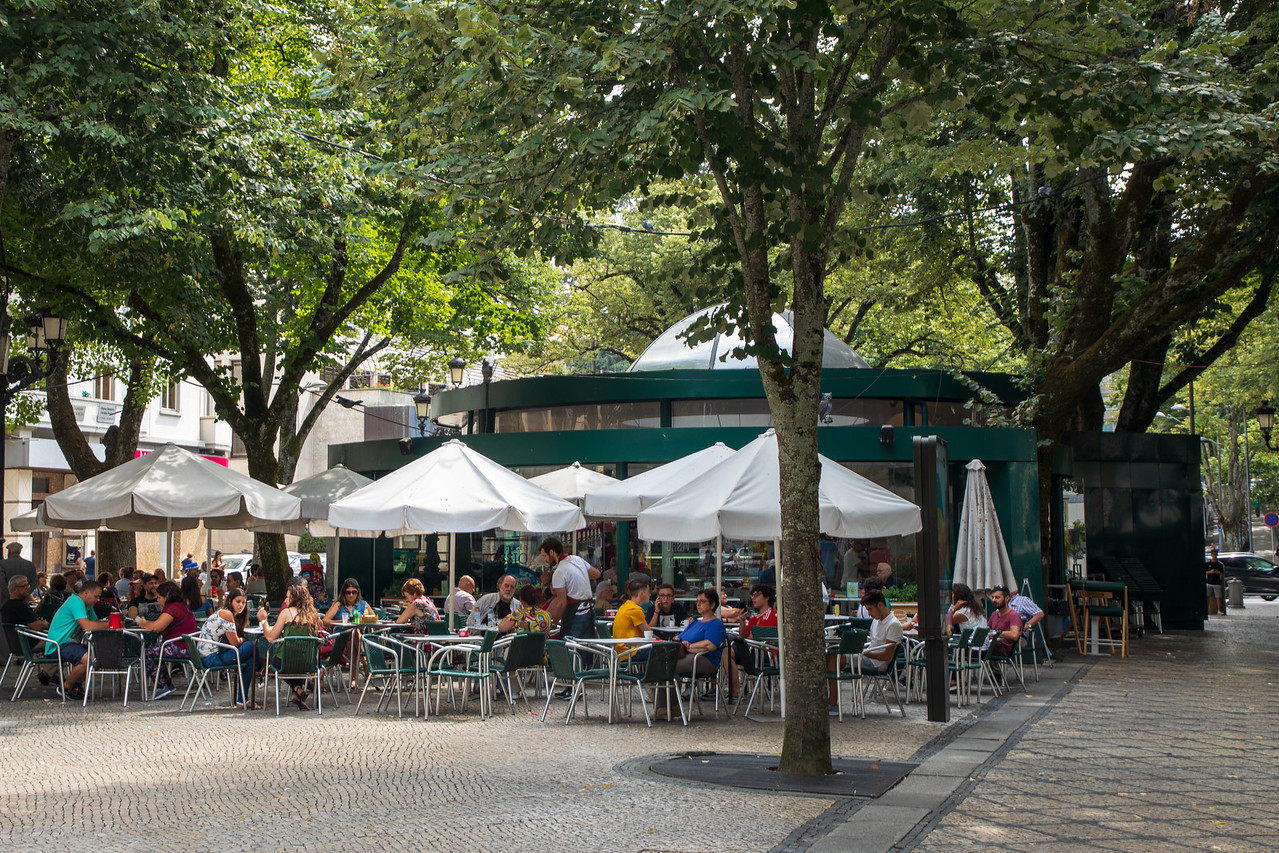Outdoor Cafe in the Historical Center of Viseu Portugal