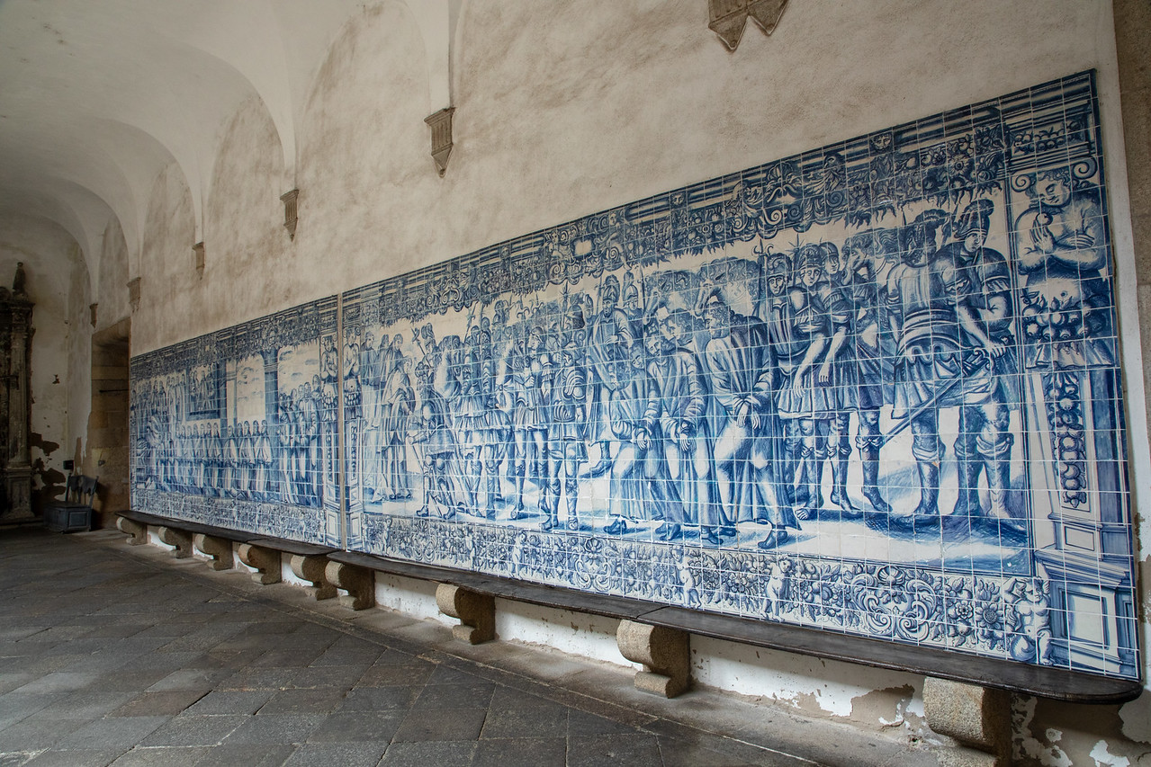 Azulejos Tiles Inside The Cathedral of Viseu, Portugal