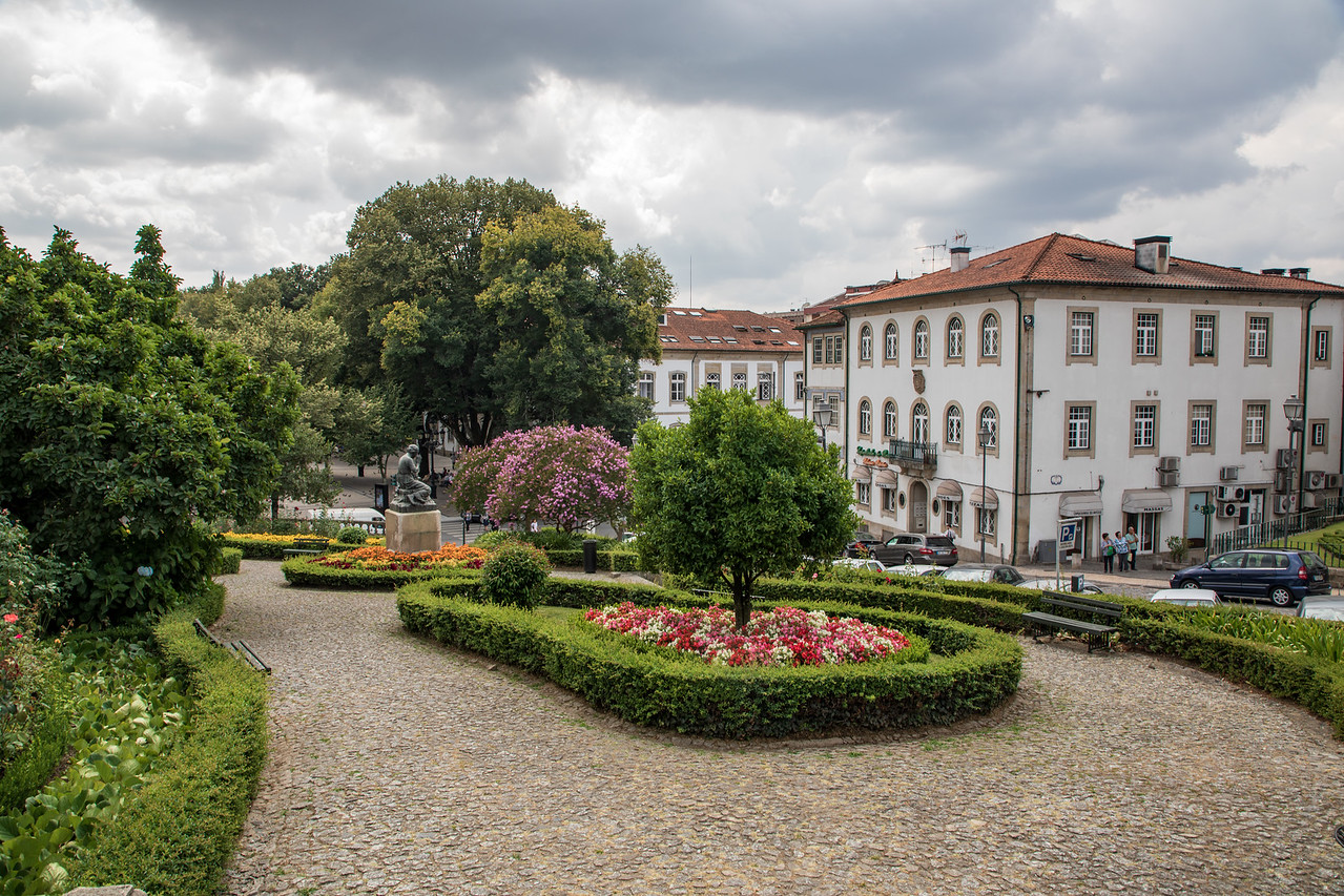 Community Park in the Center of Viseu, Portugal