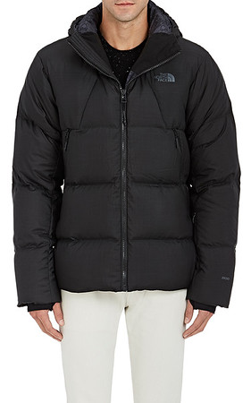 MSRP - $975 The North Face's water-resistant down jacket is crafted of black soft tech fabric and features a detachable toggle hood.