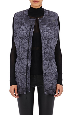 The North Face x Barneys Abstract-Print Hexagon-Quilted Puffer Vest