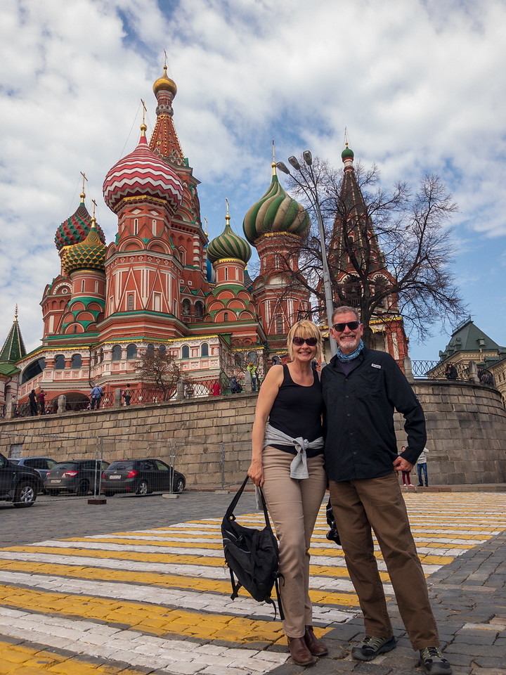 Jonathan and Sarah in Front of Saint Basil's Cathedral