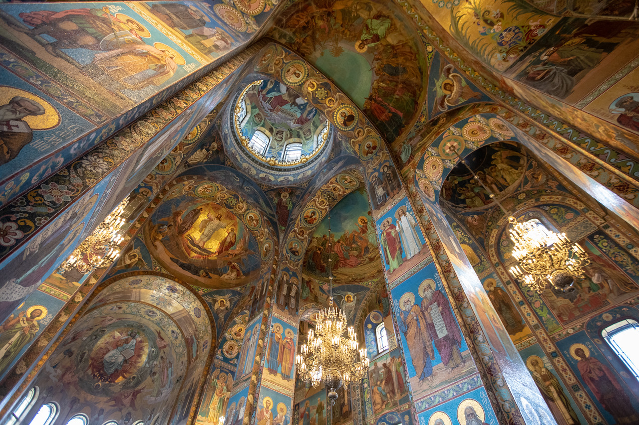 Interior of Church of Our Savior on the Spilled Blood in St. Petersburg