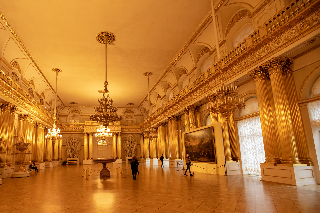 The Gold Room in the Hermitage Museum in Saint Petersburg