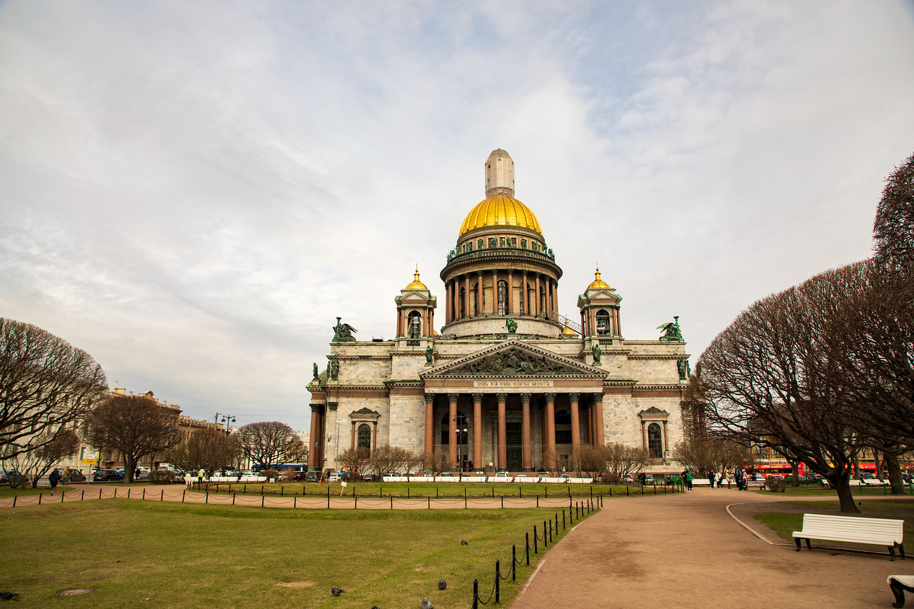 Saint Isaac's Cathedral or Isaakievskiy Sobor in St. Petersburg
