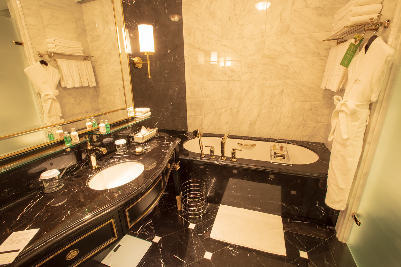 Our Bathroom at the Lotte Hotel in St. Petersburg