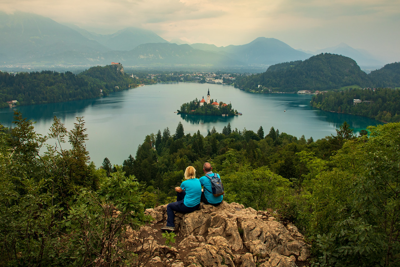 One of the best things to do at Lake Bled is to hike to one of the viewpoints like this