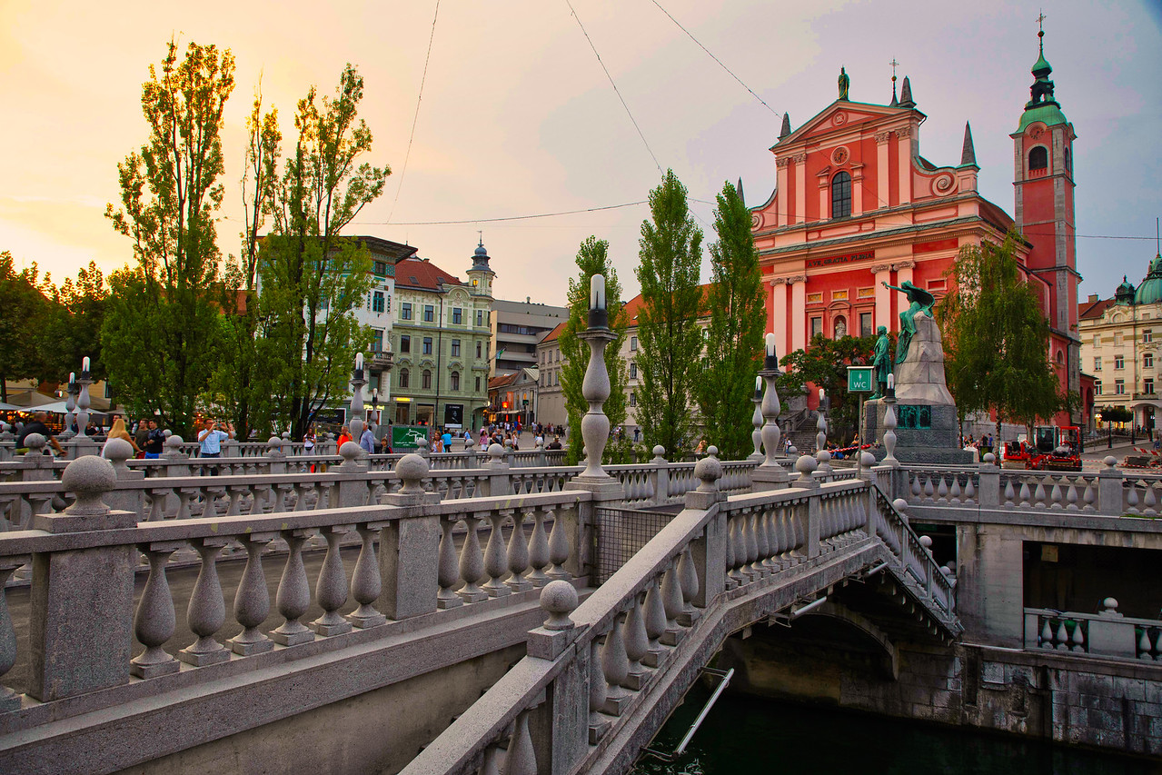 The Triple Bridge (Tromostovje) in Ljubljana