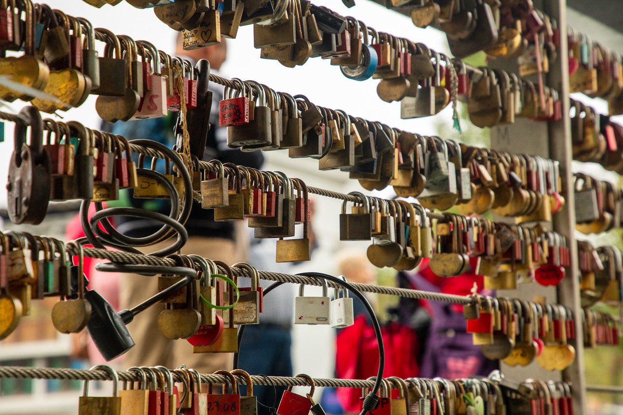 Love Locks On Butchers Bridge