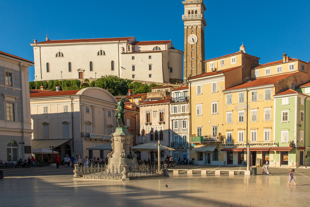 Tartini Square in Piran Slovenia