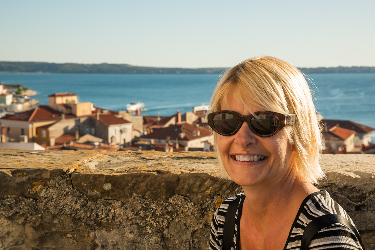 Sarah On The City Walls of Piran