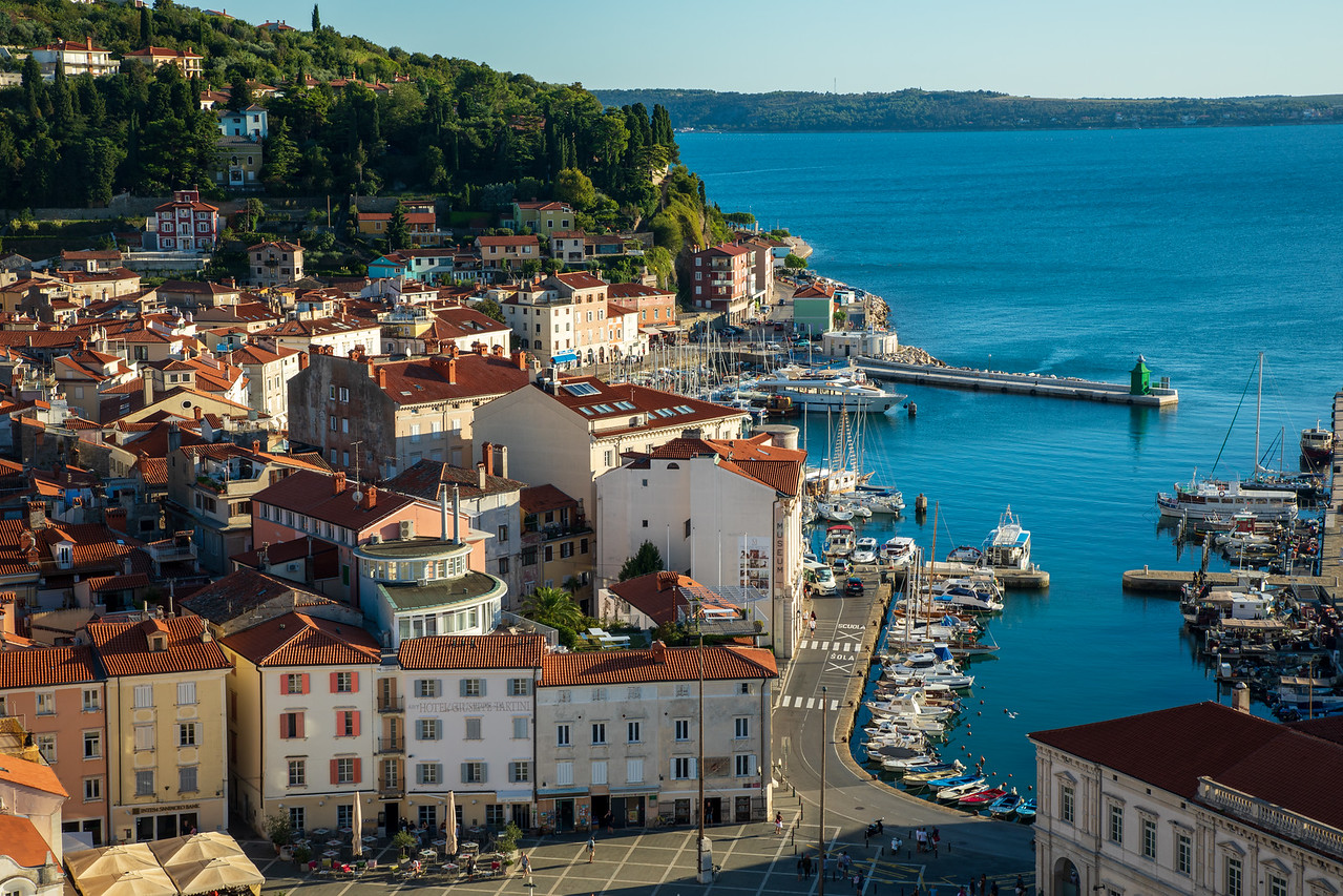 View Of The Harbor In Piran, Slovenia