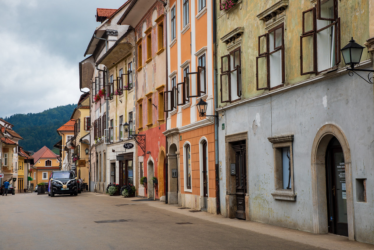 Exploring Old Town in Škofja Loka