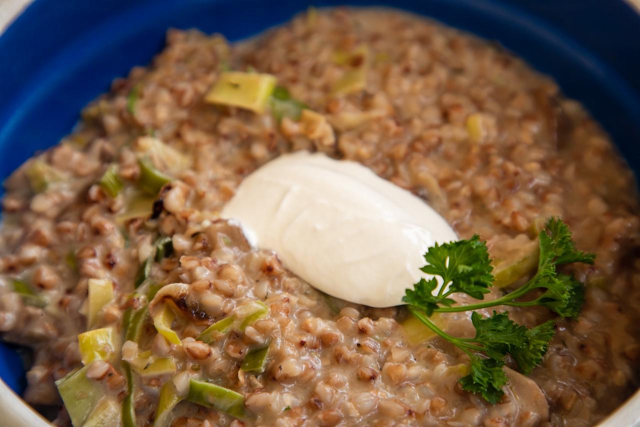 Ajdova Kaša Z Jurčki is Great Slovenian Food For Vegetarians