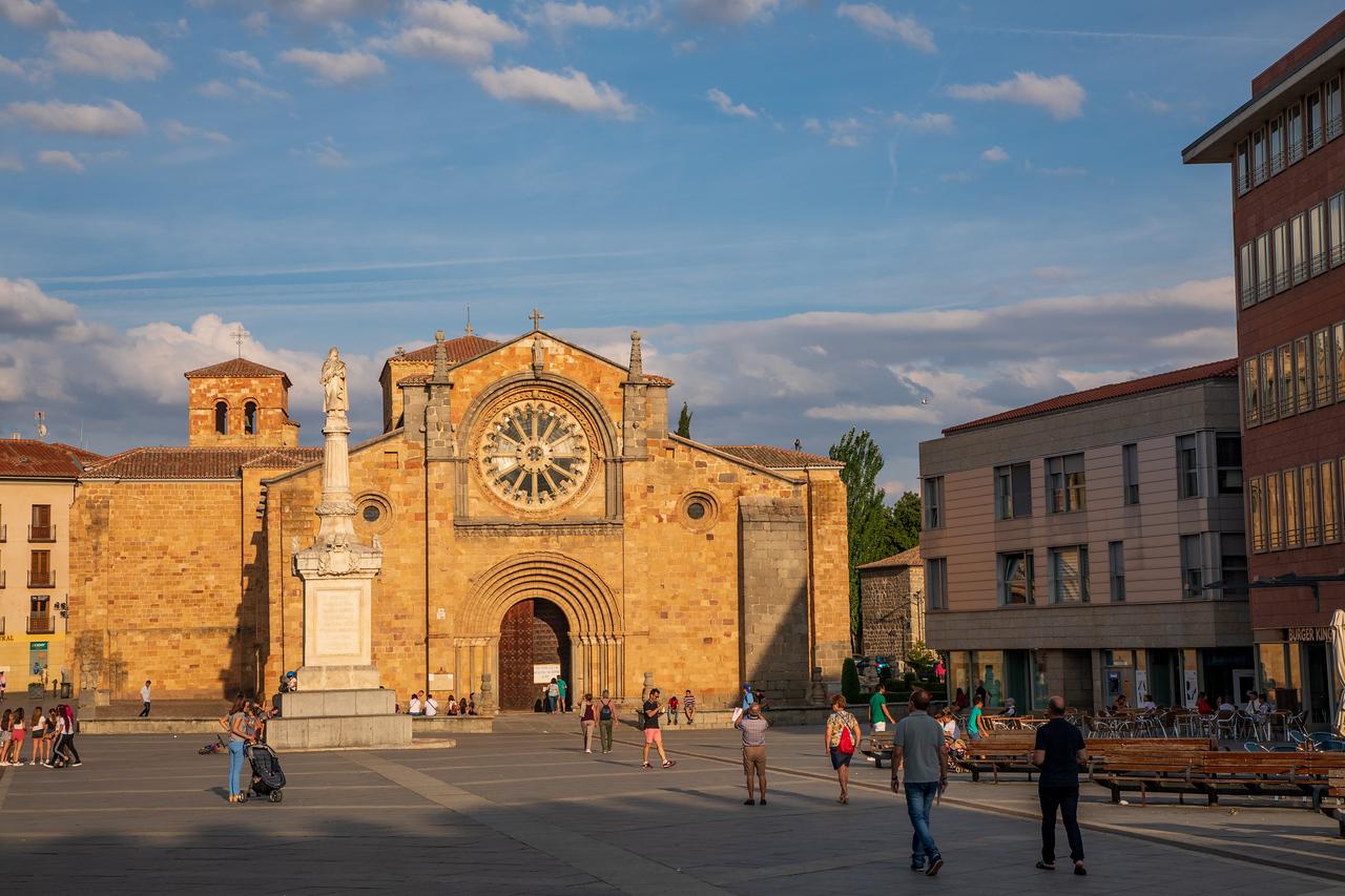 Plaza de Santa Teresa de Jesus in Avila Spain