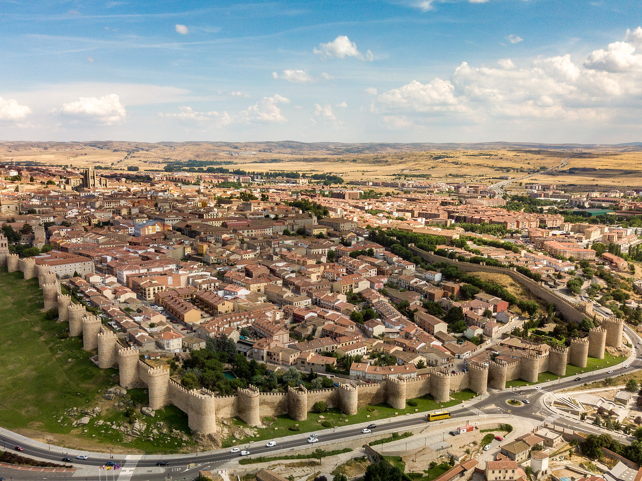 Drone Image of Avila, Spain Castle