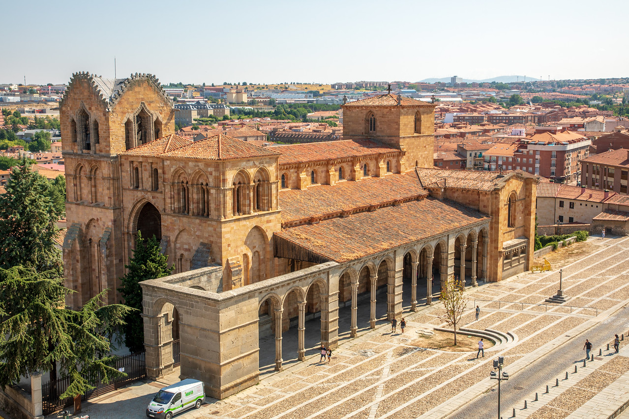 Basilica de San Vicente in Avila Spain