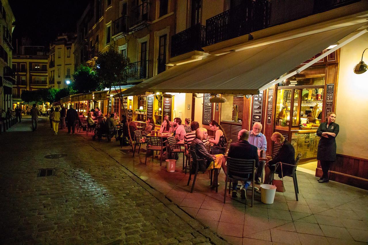 Tapas Bars in the Santa Cruz Area of Seville, Spain