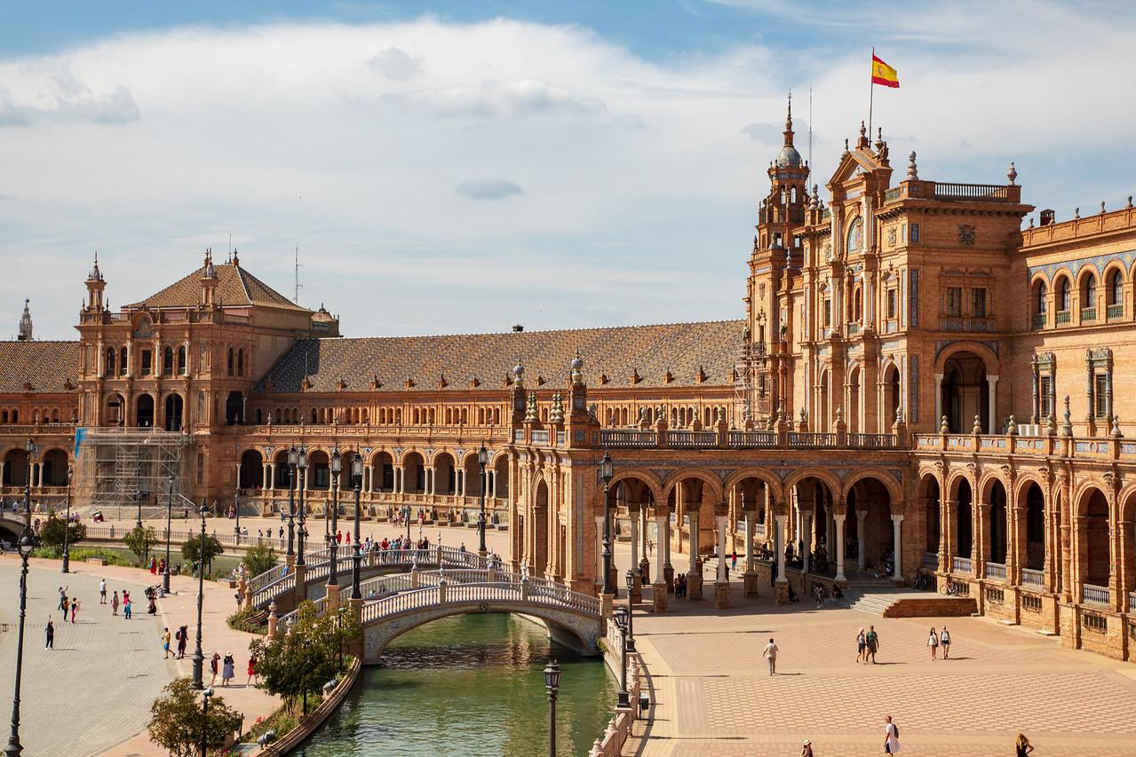 Plaza da España in Seville, Spain