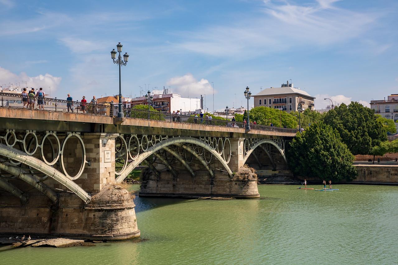 Bridge Over the Guadalquivir River in Seville, Spain